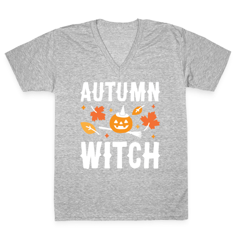 Autumn Witch V-Neck Tee Shirt