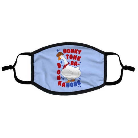 Honky Tonk Badonkahonk Flat Face Mask