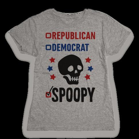 Republican Democrat SPOOPY Womens T-Shirt