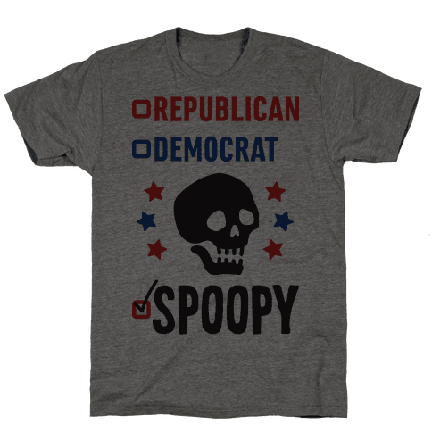 Republican Democrat SPOOPY Mens T-Shirt