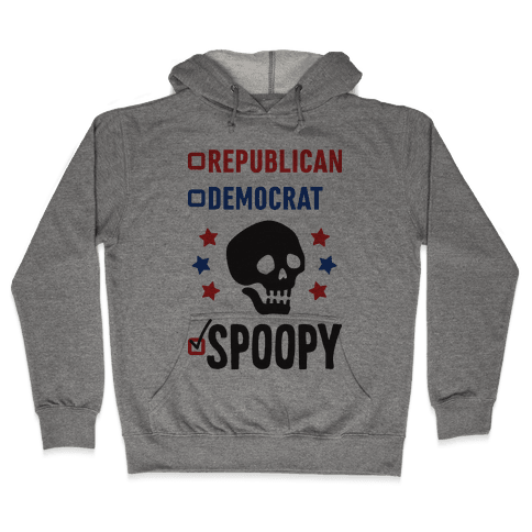 Republican Democrat SPOOPY Hooded Sweatshirt