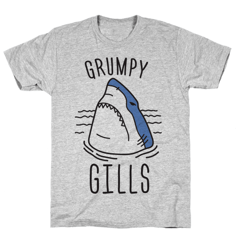 Grumpy Gills Shark Mens T-Shirt