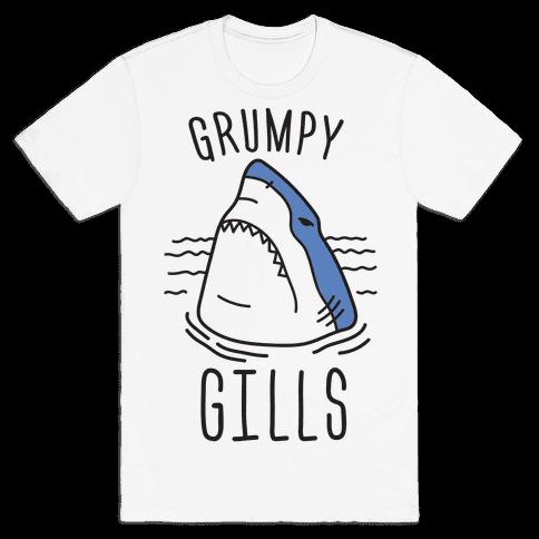 Grumpy Gills Shark Mens T-Shirt