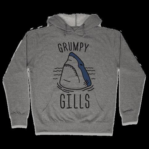 Grumpy Gills Shark Hooded Sweatshirt