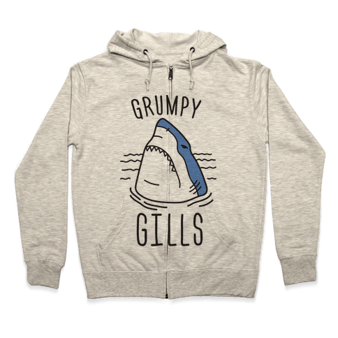 Grumpy Gills Shark Zip Hoodie