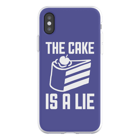 The Cake Is A Lie Phone Flexi-Case