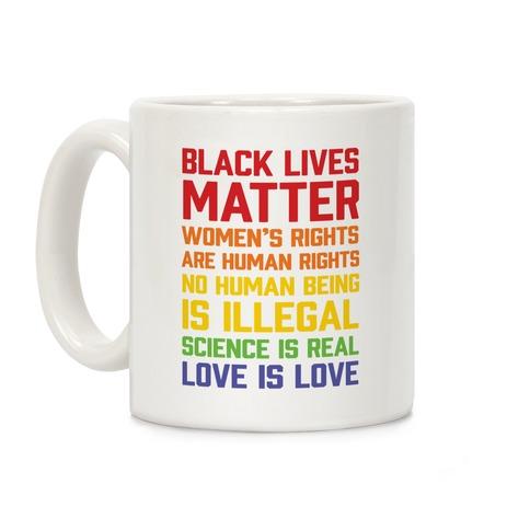 Black Lives Matter List Coffee Mug