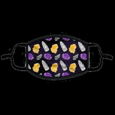 Enby Crystals Flat Face Mask