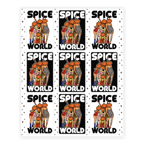 Spice World Pumpkin Spice Sticker/Decal Sheet