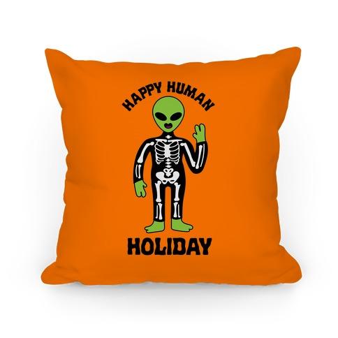 Happy Human Holiday Pillow