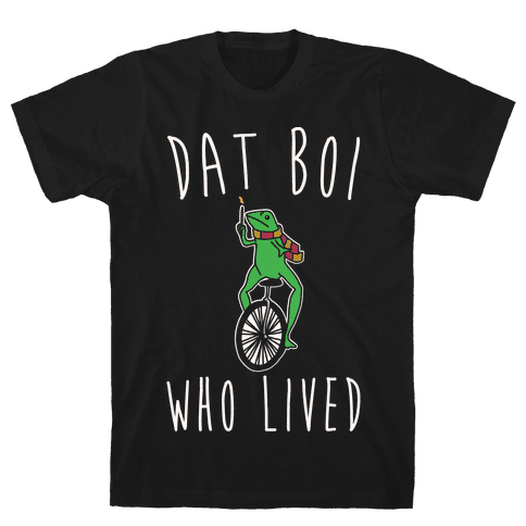 Dat Boi Who Lived Parody White Print Mens T-Shirt