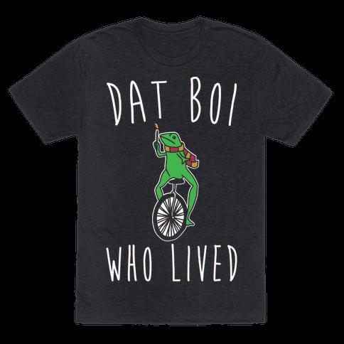 Dat Boi Who Lived Parody White Print