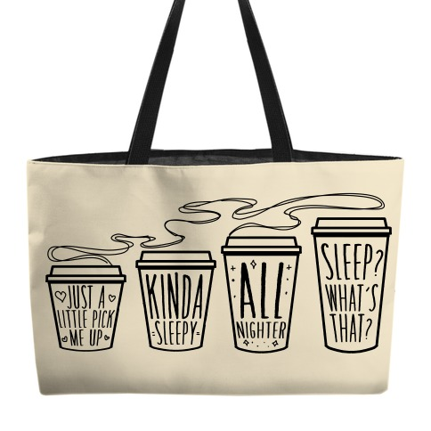 Coffee Sizes For The Restless Weekender Tote