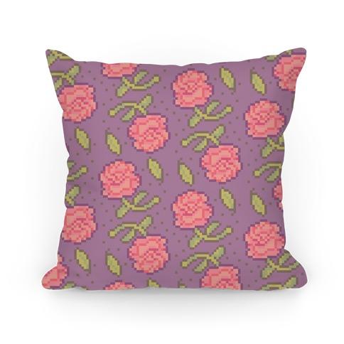 Pixel Roses Pillow