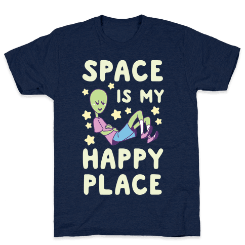 Space is my Happy Place Mens T-Shirt