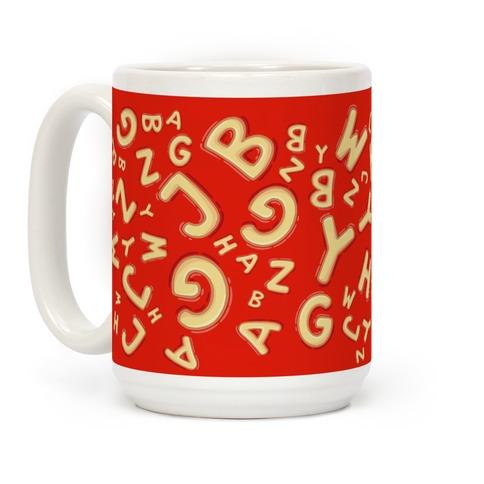 Alphabet Soup Pattern Coffee Mug