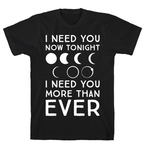 Total Eclipse Parody White Print Mens T-Shirt