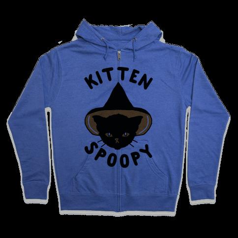 Kitten Spoopy Zip Hoodie