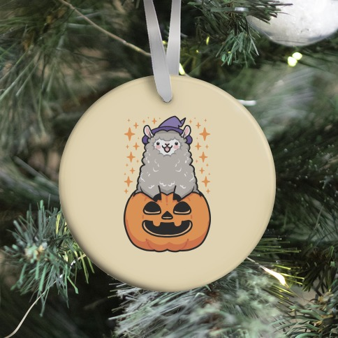 Cute Halloween Alpaca Ornament