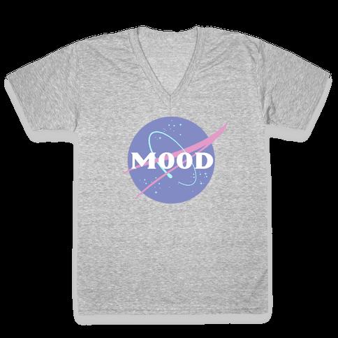 MOOD NASA Parody V-Neck Tee Shirt
