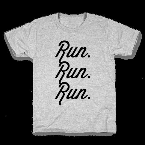 Run Run Run Kids T-Shirt