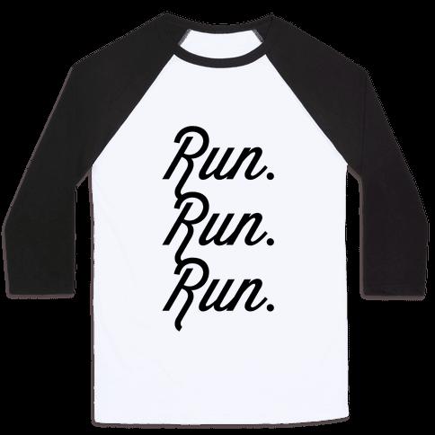 Run Run Run Baseball Tee