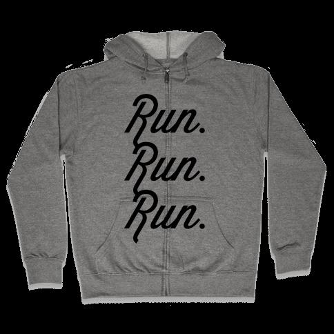 Run Run Run Zip Hoodie