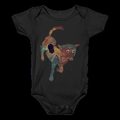 Astronaut Dog Chernushka Baby Onesy