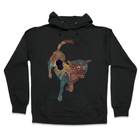 Astronaut Dog Chernushka Hooded Sweatshirt