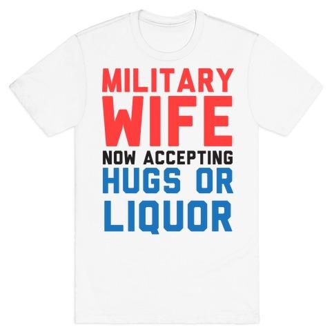 Hugs or Liquor Mens T-Shirt