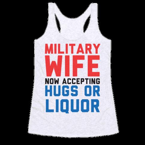 Hugs or Liquor Racerback Tank Top