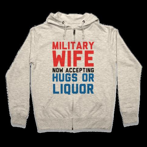 Hugs or Liquor Zip Hoodie
