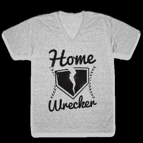 Home Wrecker V-Neck Tee Shirt