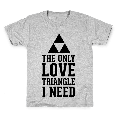 The Only Love Triangle I Need Kids T-Shirt