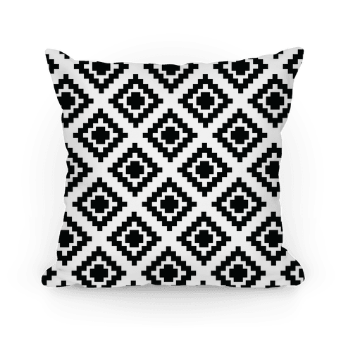 Tribal Diamond Pattern Pillow