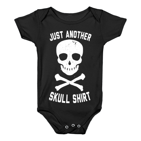 Just Another Skull Shirt Baby Onesy