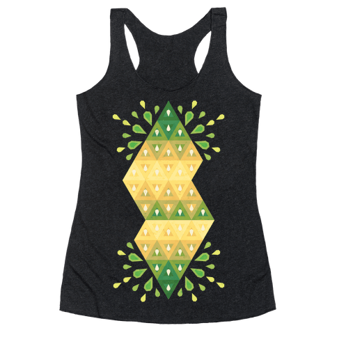 Abstract Summer Seed Garden Racerback Tank Top