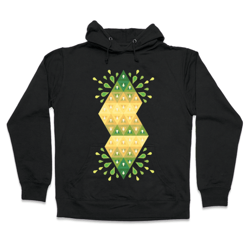 Abstract Summer Seed Garden Hooded Sweatshirt