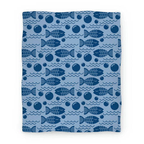 Geometric Fish Blanket