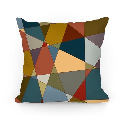 Geometric Mosaic Pattern Pillow
