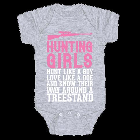 Hunting Girls Baby Onesy