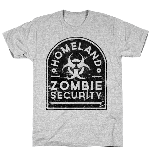 Homeland Zombie Security (Variant) Mens T-Shirt