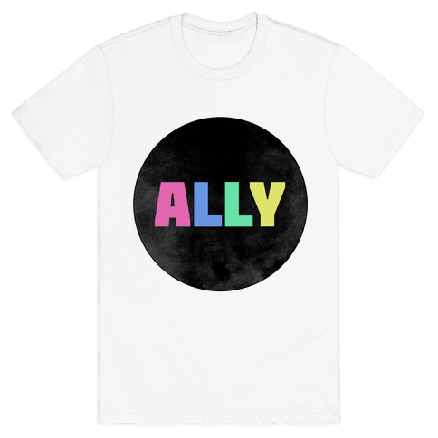 Proud Ally Mens T-Shirt