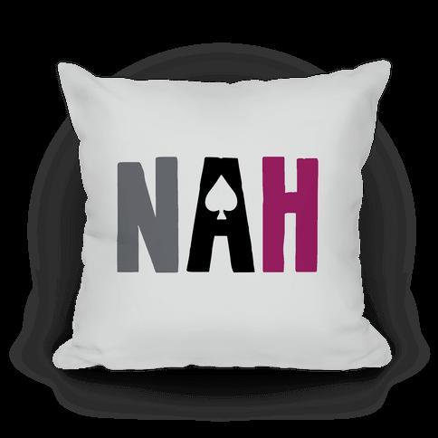 Nah- Asexual Pride Pillow