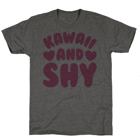 Kawaii and Shy Mens T-Shirt