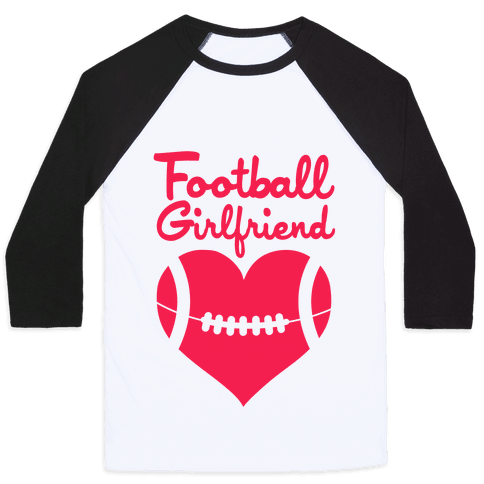 Football Girlfriend Baseball Tee