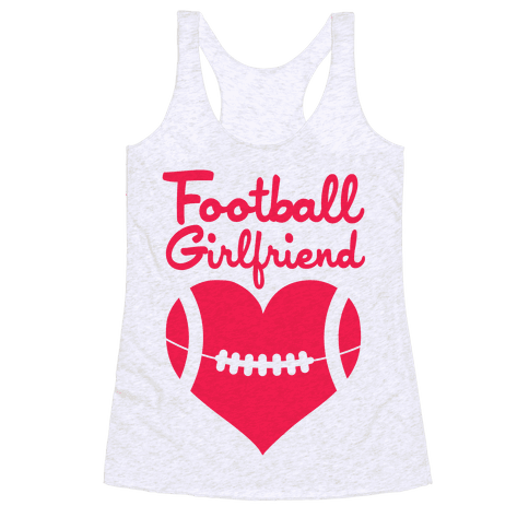 Football Girlfriend Racerback Tank Top