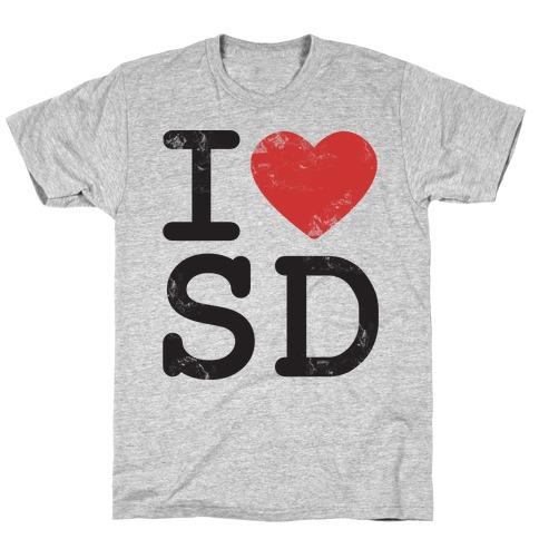 I Love Noth Dakota Mens T-Shirt