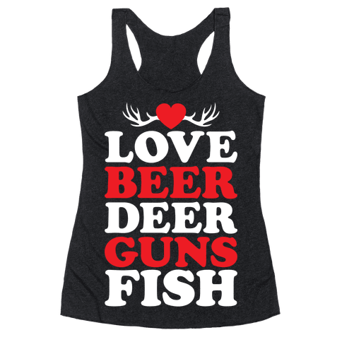 My Favorite Four-Letter Words Racerback Tank Top