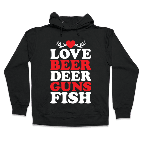 My Favorite Four-Letter Words Hooded Sweatshirt